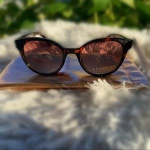 🆕 Seafolly 48mm Round Cat Eye Sunglasses
